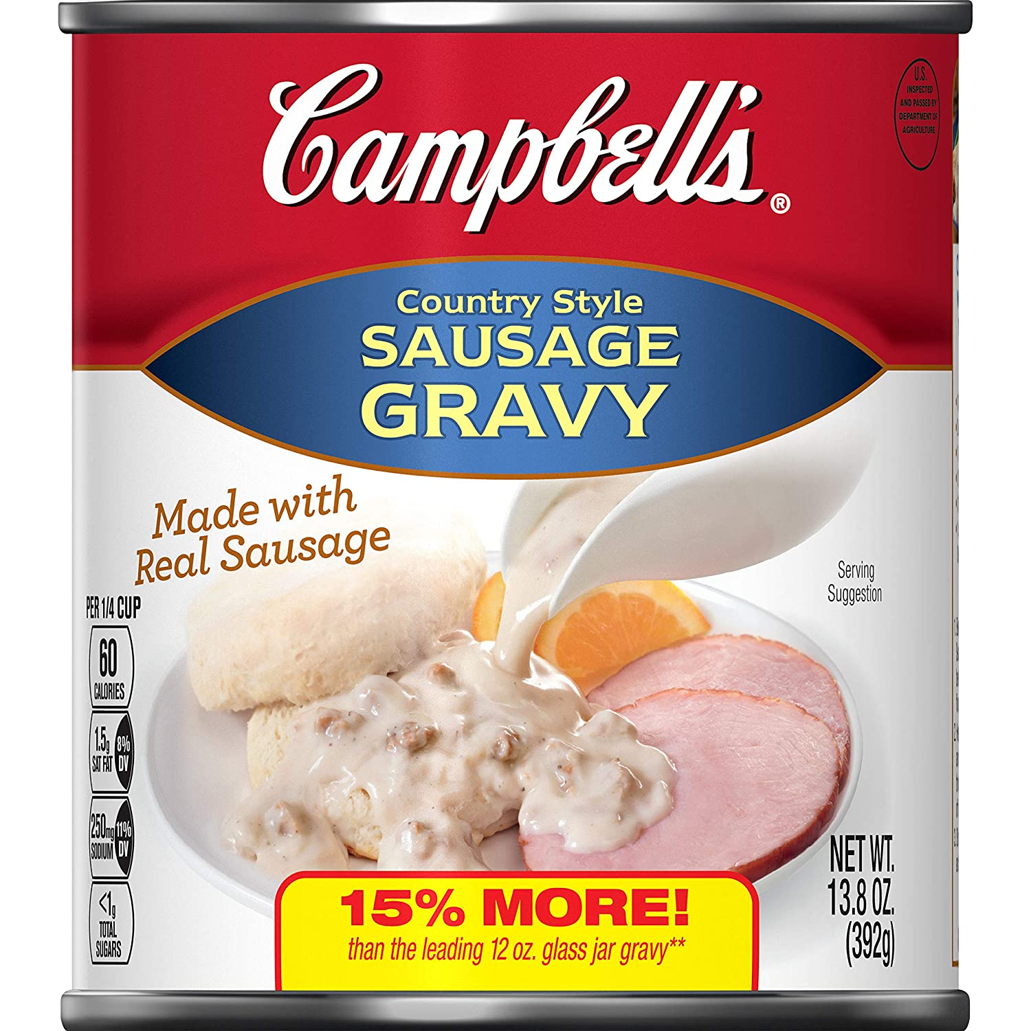 Campbell's Country Style Sausage Gravy, 13.8 oz.