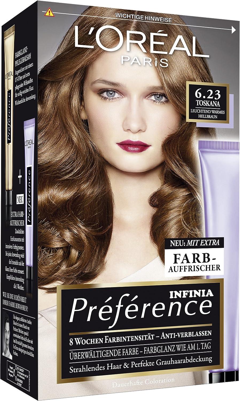 L Oréal Paris Préférence coloration Toskana, 6.23 Color ...