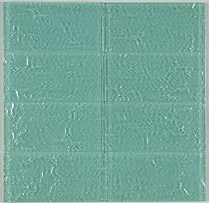 Amazon.com: THEG-16 Green 2x4 Subway Tile Gl Mosaic Backsplash ... on subway tile for shower ideas, subway tile for bathroom, subway tile for backsplashes, subway tile for granite countertops, subway tile for small kitchens,