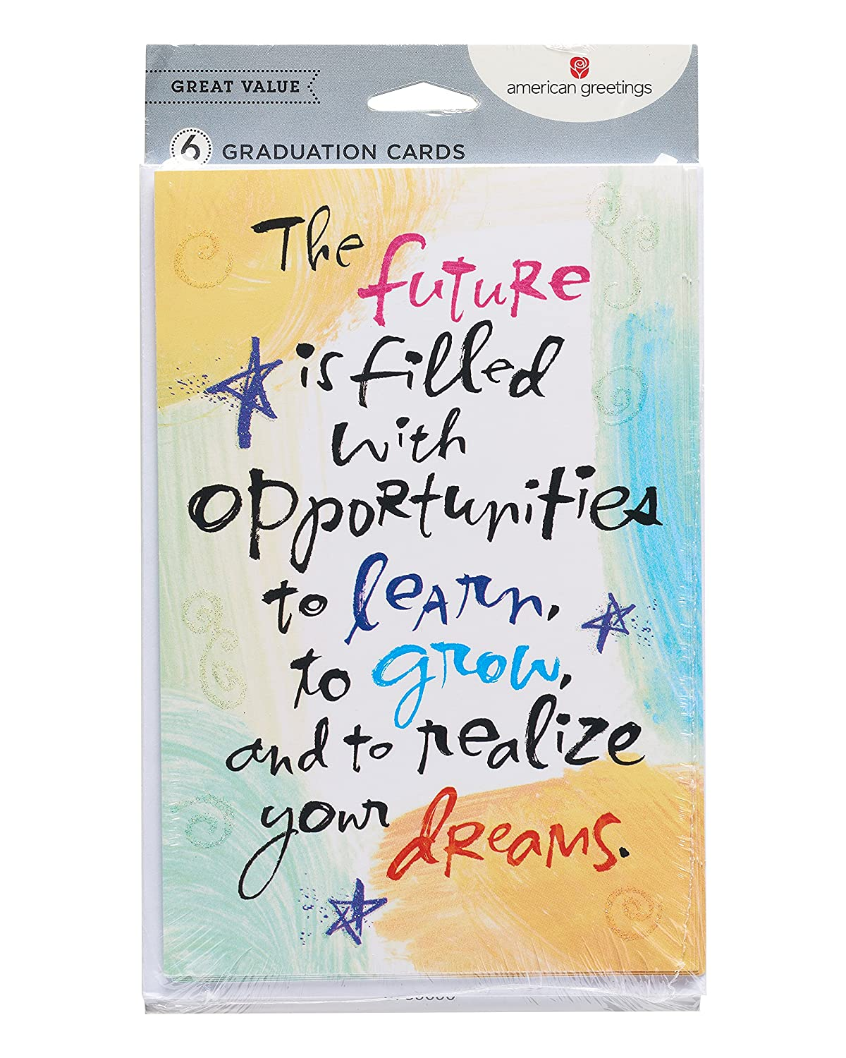Amazon American Greetings Future Graduation Card With Glitter