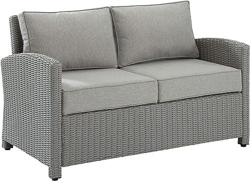Crosley Furniture KO70022GY-GY Bradenton Outdoor Wicker Loveseat