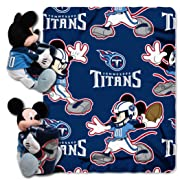 The Northwest Company Officially Licensed NFL Tennessee Titans Co Disney's Mickey Hugger and Fleece Throw Blanket Set