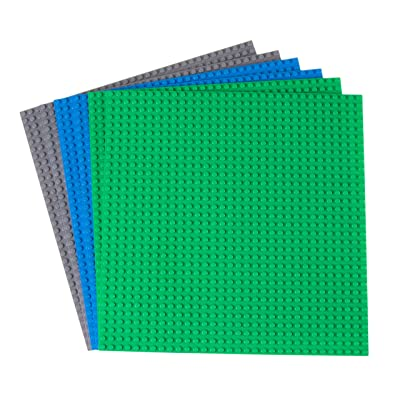 Strictly Briks 10x10 4 Packs (14 - 6 Pack - Blue, Green & Gray): Toys & Games