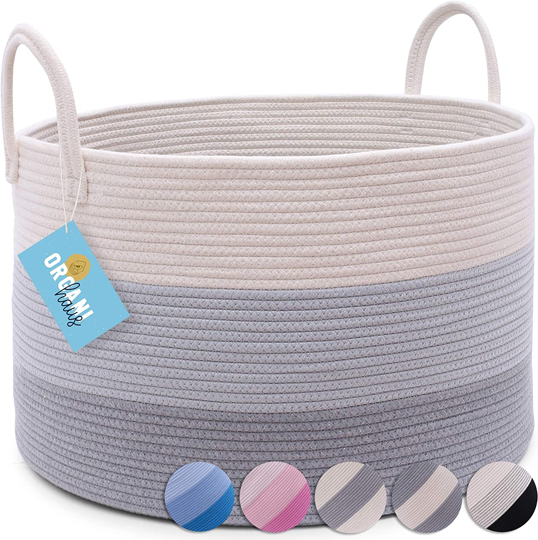 Shop OrganiHaus XXL Cotton Rope Basket from Amazon on Openhaus