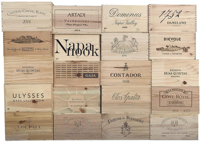 6BtlStdNoLid Wooden Box for Wine Storage Wedding Decor DIY Projects Garden Planter Boxes NO Lid NO Storage Inserts Vineyard Crates One 1 Decorative 6 Bottle Wine Crate