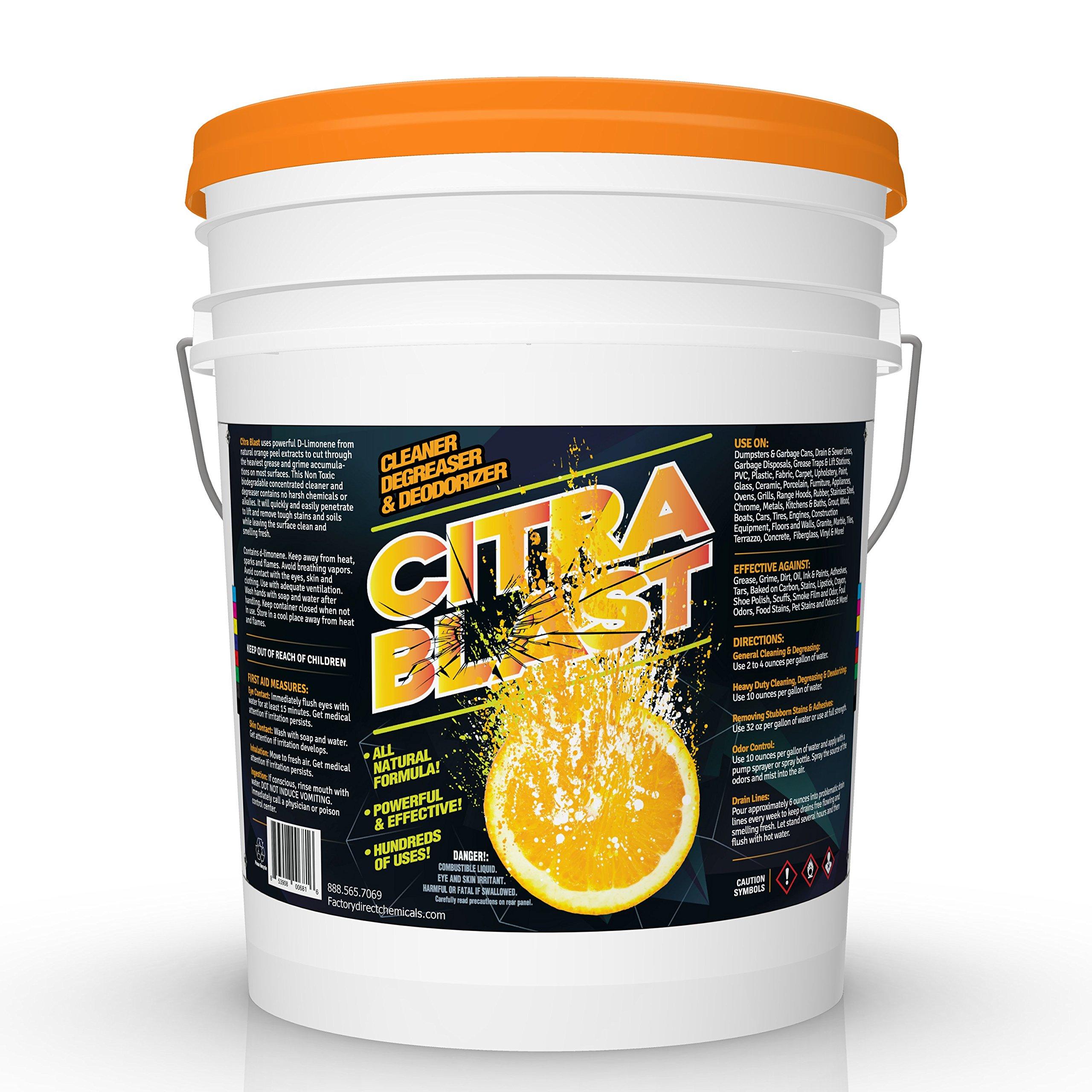 All Natural Orange Citrus D-Limonene Cleaner Degreaser & Deodorizer (5, Gallon) by FDC (Image #1)