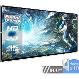 KOOGOO 100 Pollici 16: 9 Schermo di Proiezione Pieghevole,Alta Qualita' HD Portatile per Uso Domestico ed Esterno schermo di proiezion (100 inch)
