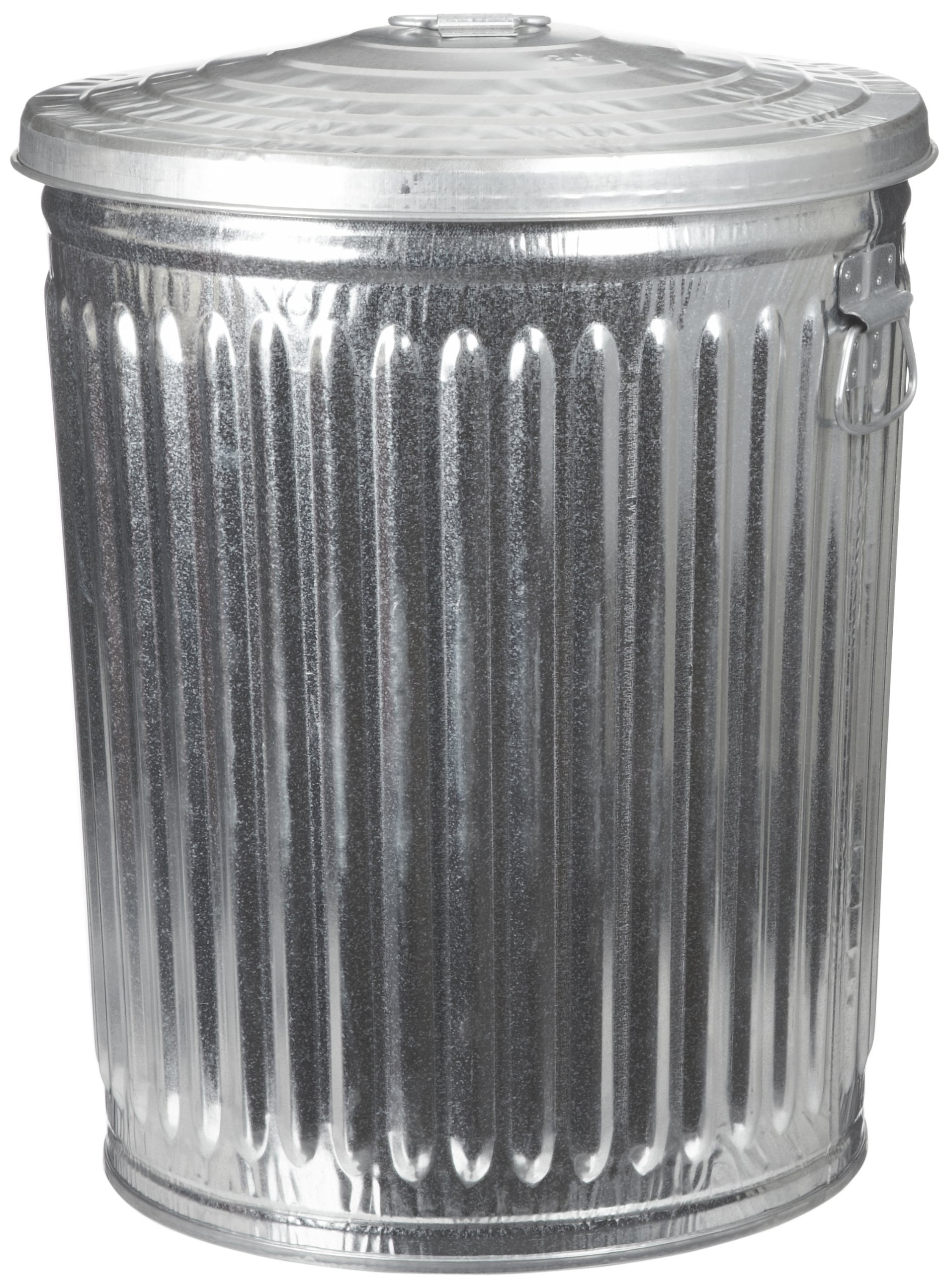 Witt Industries WCD32CL Galvanized Steel 32-Gallon Light Duty Trash Can with Lid, Round, 21-1/4'' Diameter x 27-1/2'' Height by Witt Industries