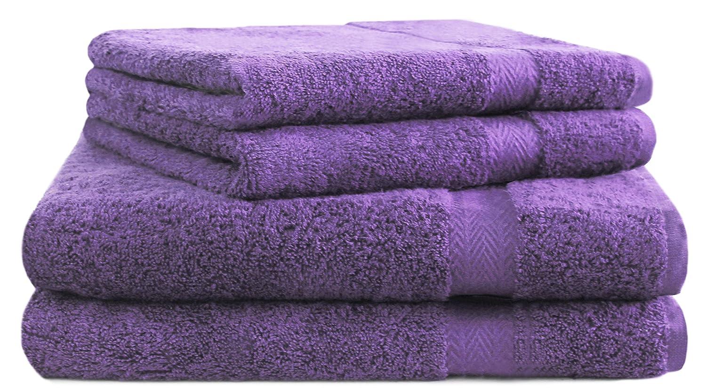 Betz 10-tlg Handtuch-Set CLASSIC 100/% Baumwolle lila /& gelb