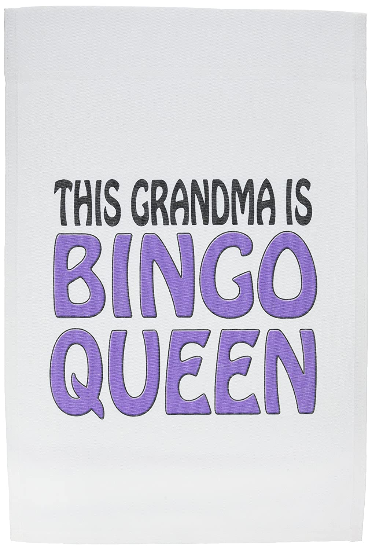 3drose Evadane Funny Quotes This Grandma Is Bingo Queen Purple 12 X 18 Inch Garden Flag Fl1497731