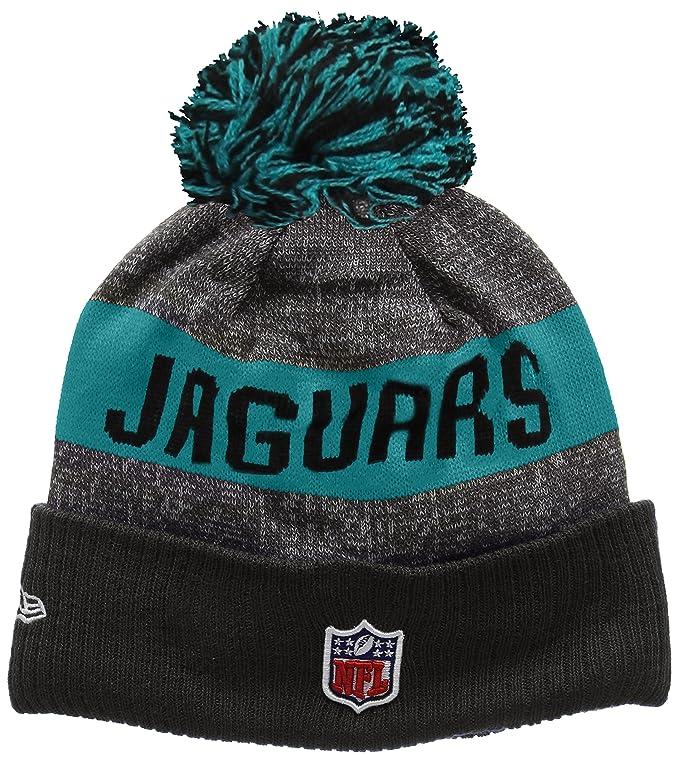 New Era Men s NFL Sideline Bobble Knit Jacksonville Jaguars Beanie ... 9f32a2f74
