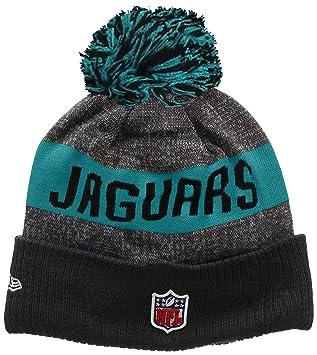 New Era Men s NFL Sideline Bobble Knit Jacksonville Jaguars Beanie ... 0a3215bb719