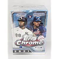 $47 » 2021 Topps Chrome Baseball Cards Blaster Box 32 Cards. Includes 2 Sepia and 2 Pink…