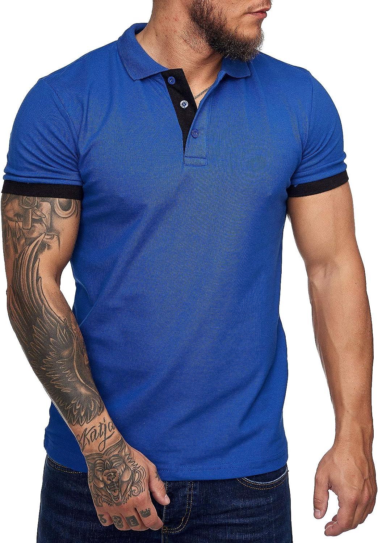 OneRedox Herren Poloshirt Polohemd Basic Kurzarm Einfarbig Slim Fit Polo Shirt Baumwolle T-Shirt Polokragen M-XXXL