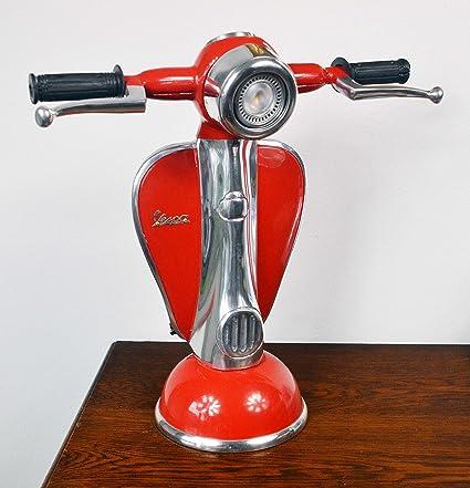 Vespa – Lámpara de mesa con faro rojo