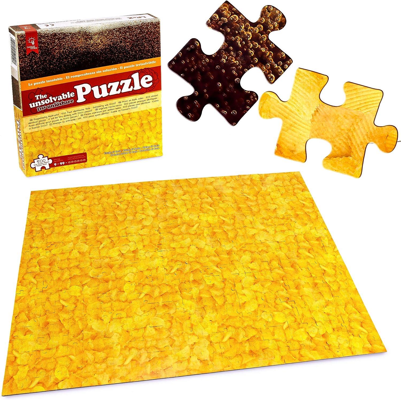 Gadget Storm Puzzle Imposible Motivo Chips y Cola 500 Piezas Casi Idénticas por los 2 Lados Rompecabezas para Adultos y Niños Desde 9 Años