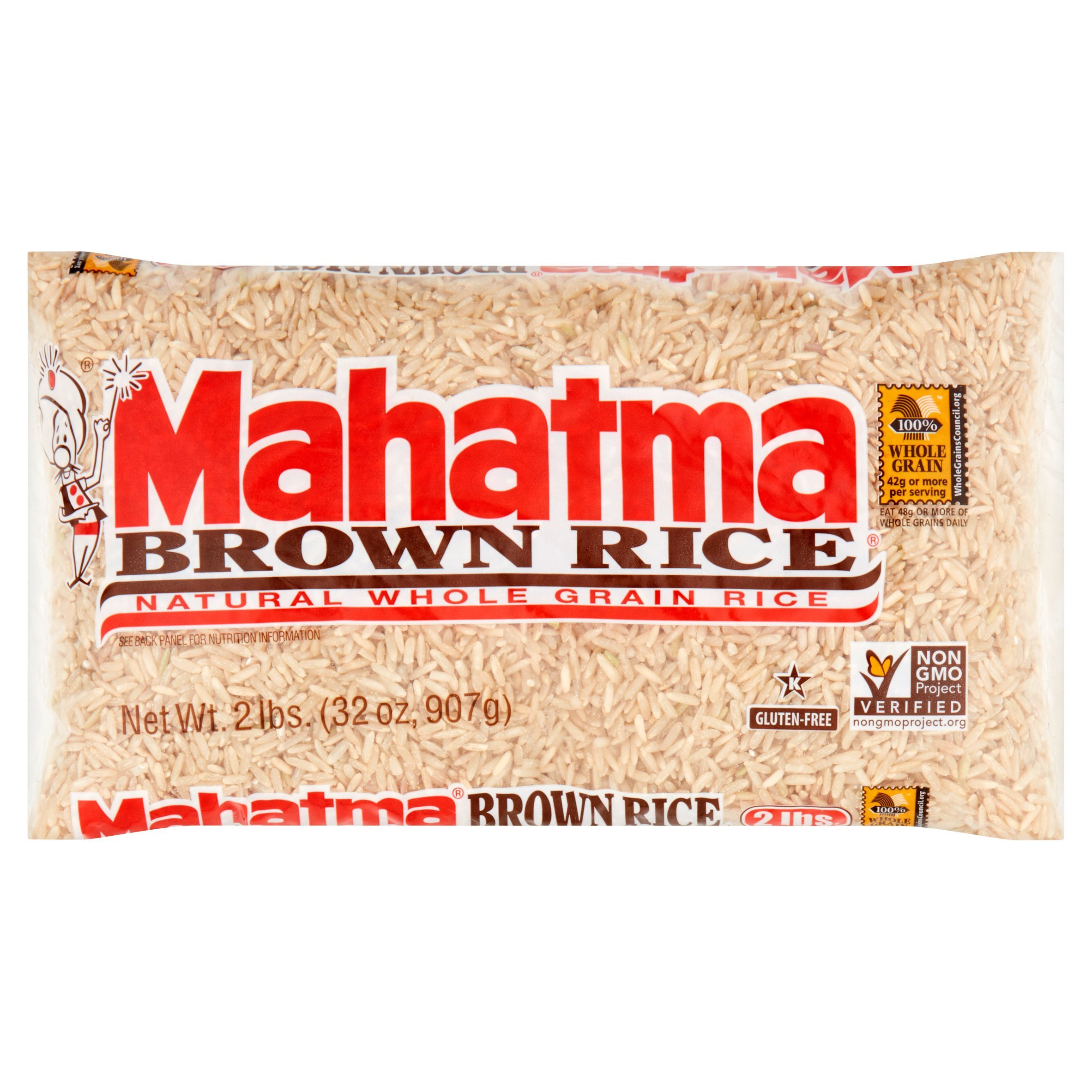 Mahatma Brown Rice, 32.0 OZ Natural Whole Grain, Gluten Free, Non GMO