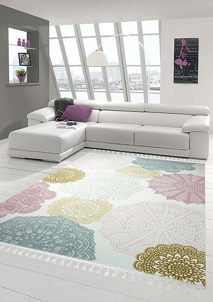 Designer Teppich Moderner Teppich Wollteppich Kreis Muster Mit