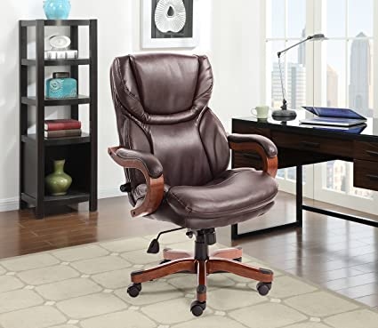 C Serta 43506A Executive Office Chair Biscut