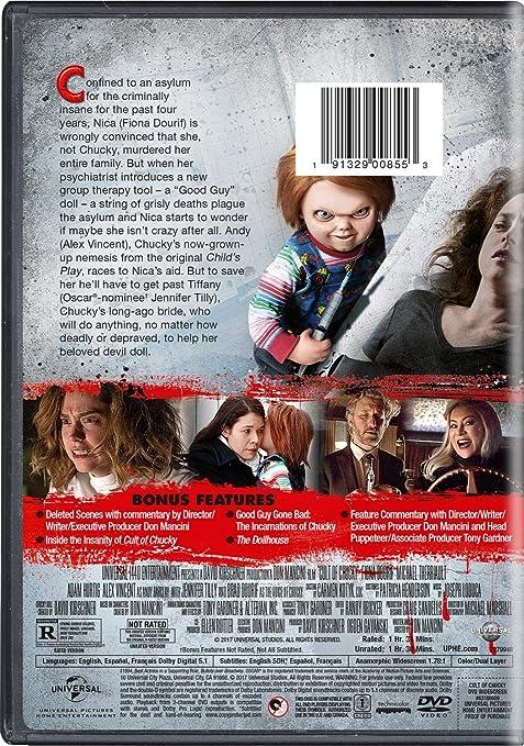 Cult Of Chucky [Edizione: Stati Uniti] [Italia] [DVD]: Amazon.es: Jennifer Tilly, Brad Dourif, Fiona Dourif, Don Mancini, Jennifer Tilly, Brad Dourif: Cine y Series TV