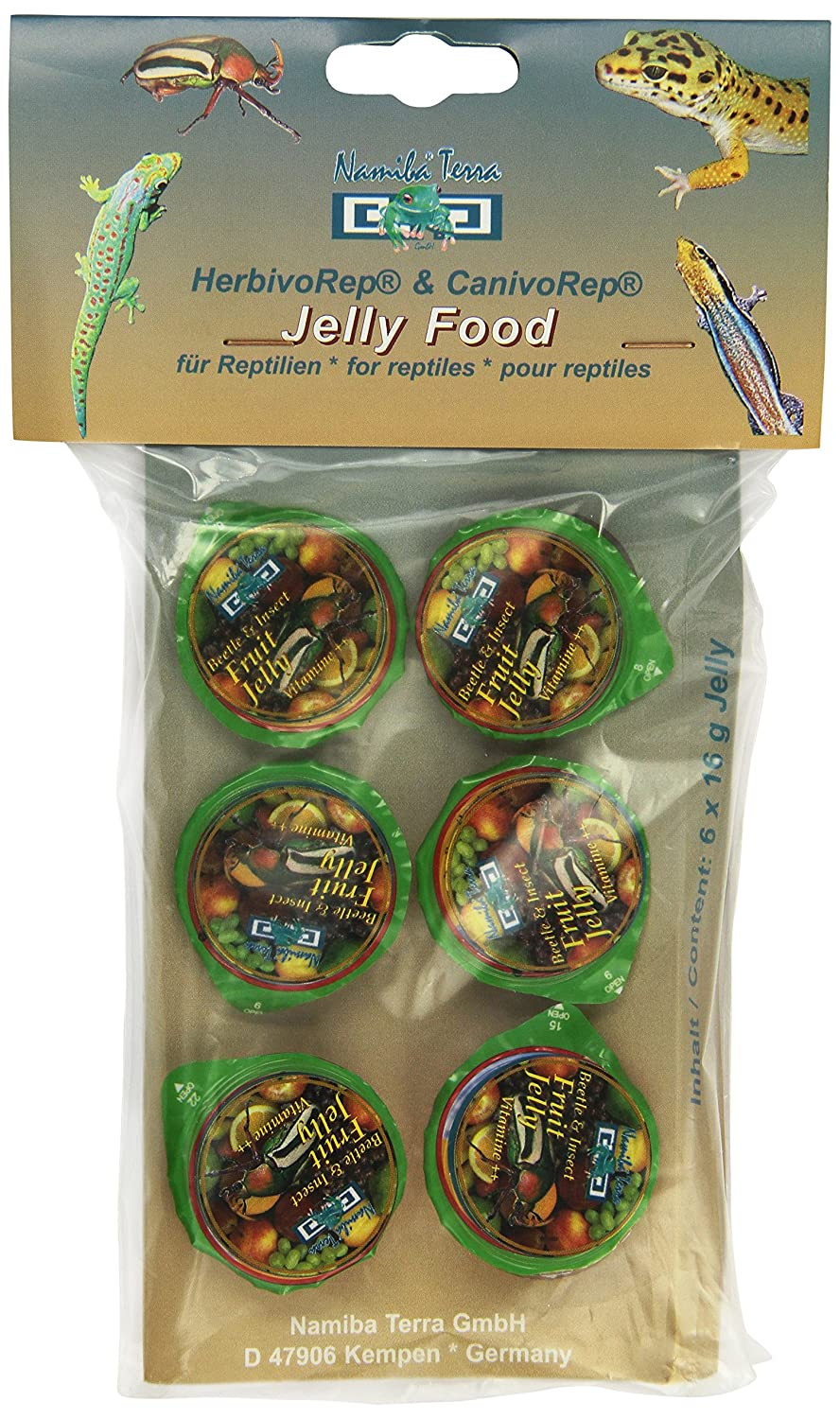 Namiba Terra 0289 Beetle und Insect Vitamin-Frucht Jellylarge, 6-er Pack