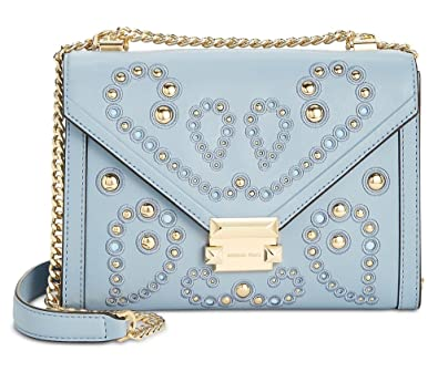 0267e8ba46bc MICHAEL Michael Kors Whitney Large Embellished Leather Shoulder Bag, Pale  Blue: Amazon.co.uk: Shoes & Bags