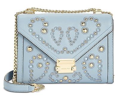 eee62daa322320 MICHAEL Michael Kors Whitney Large Embellished Leather Shoulder Bag, Pale  Blue: Amazon.co.uk: Shoes & Bags