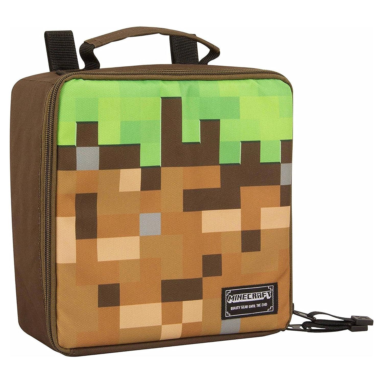 JINX Minecraft Dirt Block Insulated Kids School Lunch Box for Boys, Girls, Kids, Adult