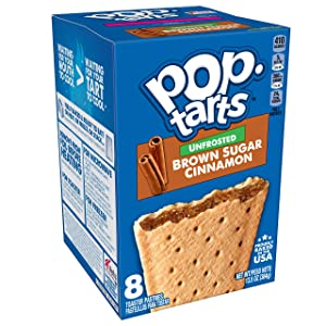 Pop-Tarts, Breakfast Toaster Pastries, Unfrosted Brown Sugar Cinnamon, Proudly Baked in the USA, 13.5oz Box (Pack of 12)