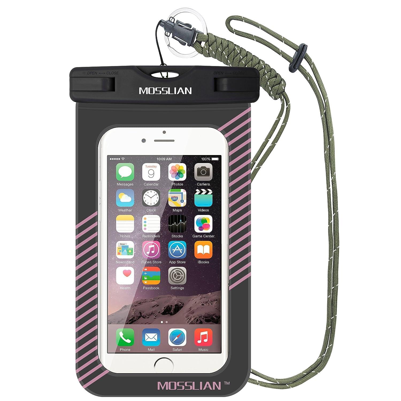 MOSSLIAN Funda Impermeable Móvil Bolsa Universal para iPhone X/8/7/6/6s Plus Certificado IPX8 Resistente al Polvo, Lluvia, Nieve y Aceite, ...