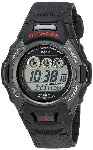 G Shock Reloj deportivo de resina negra con energía solar, para hombre