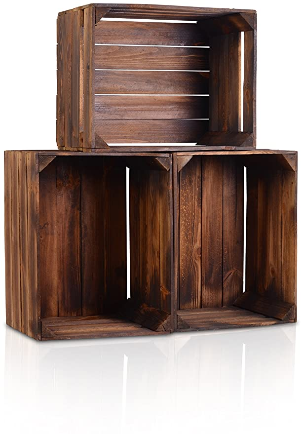 CHICCIE la Caja de Madera Vintage Look - , Distintos tamaños - gefla MMT Oscuro - Fruta (Deko Caja: Amazon.es: Juguetes y juegos