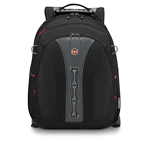 "Wenger 600631 LEGACY 16"" Laptop Backpack , Airport friendly with case stabalising platform in Black {21 Litres}"