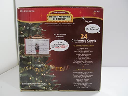 amazoncom mr christmas maestro mouse presents the lights and sounds of christmas interactive musical light show ornament home kitchen