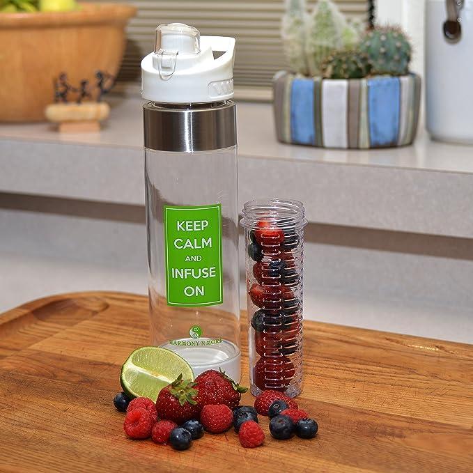 Mejor frutas infusión botella de agua - 24 oz - libre de BPA ...