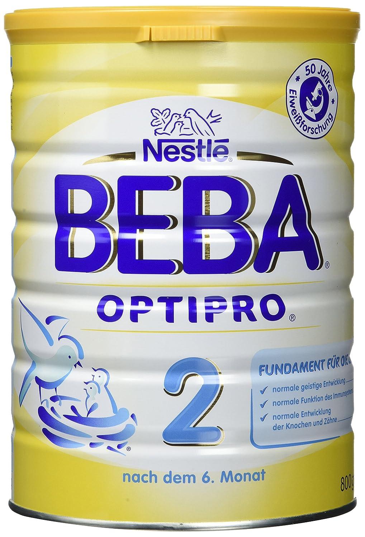 Nestlé BEBA OPTIPRO 2 | Folgemilch für Säuglinge | Nach dem 6. Monat | mit Omega 3 & 6 Fettsäuren | Eisen und Vitamin