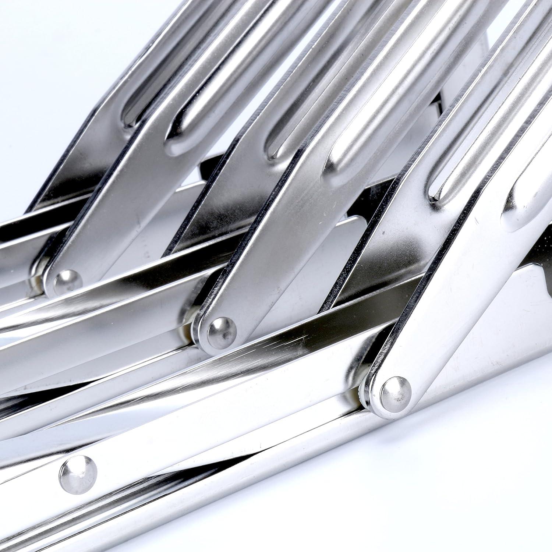 charge maximale 2/pcs Amarine-made Long Bras de d/égagement Heavy Duty en acier inoxydable poli pliant Shelf Bench Table pliante ou support d/étag/ère 249,5/kilogram//250kg Long Bras de lib/ération