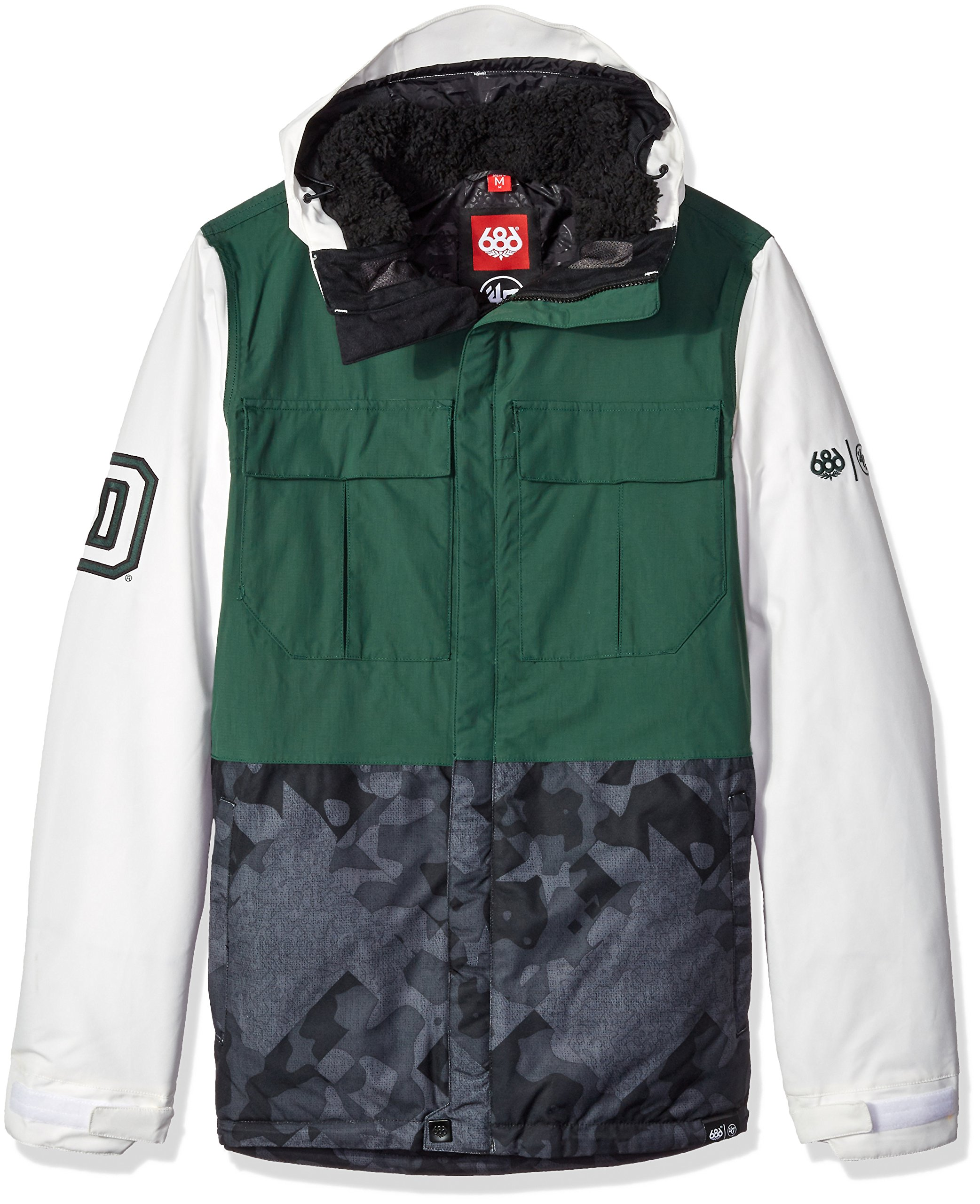 686x47 NCAA Dartmouth Big Green Men's Victory Insulated Jacket, Medium, Dartmouth Green