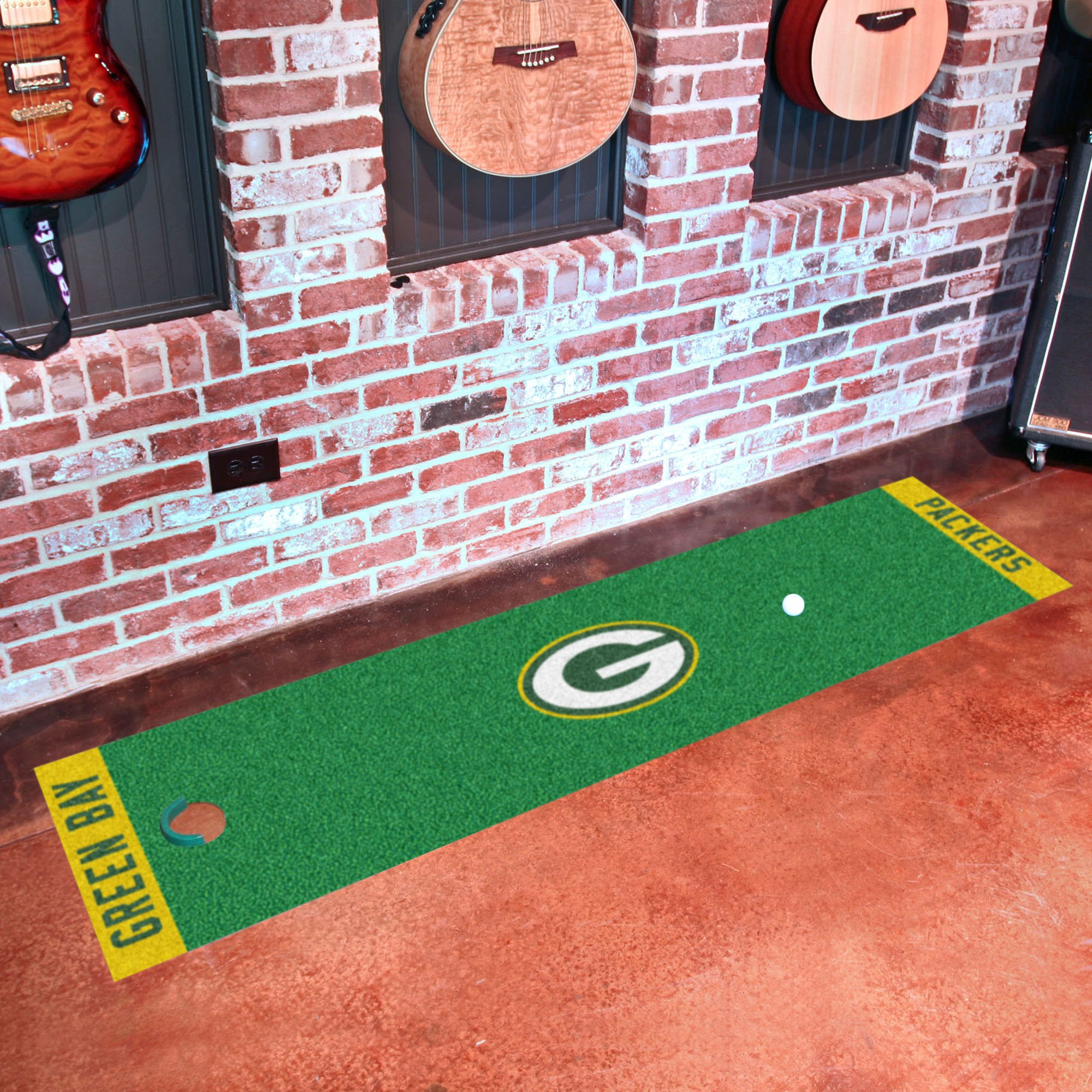 Fanmats NFL Green Bay Packers Nylon Face Putting Green Mat by Fanmats (Image #2)