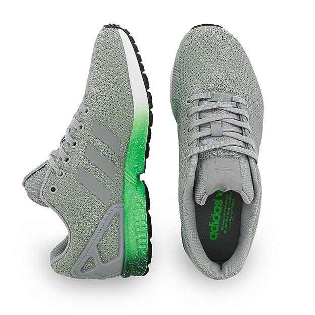 adidas Herren Zx Flux Sneaker, GrauGrün, 38 23 EU: Amazon