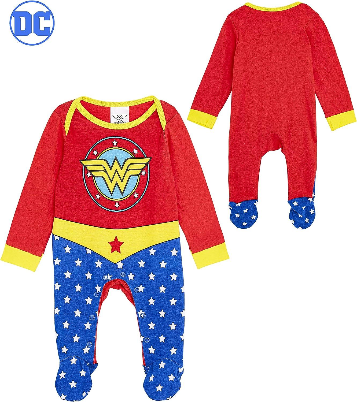 Pyjama Grenouillere Bebe Super Heros Drole DC Comics Deguisement Bebe Fille Wonder Woman Cadeaux Baby Shower Body Naissance Vetement Bebe Fille 100/% Coton Id/ée Cadeau Naissance