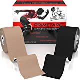 """Kinesiology Tape (2-Pack) PrimeTape - Pro Sports & Athletic Taping for Knee, Shin Splints, Shoulder and Muscle - 2"""" X 16.4' per Roll Uncut - Orthopedic Therapy Method - by Nordic Lifting™"""