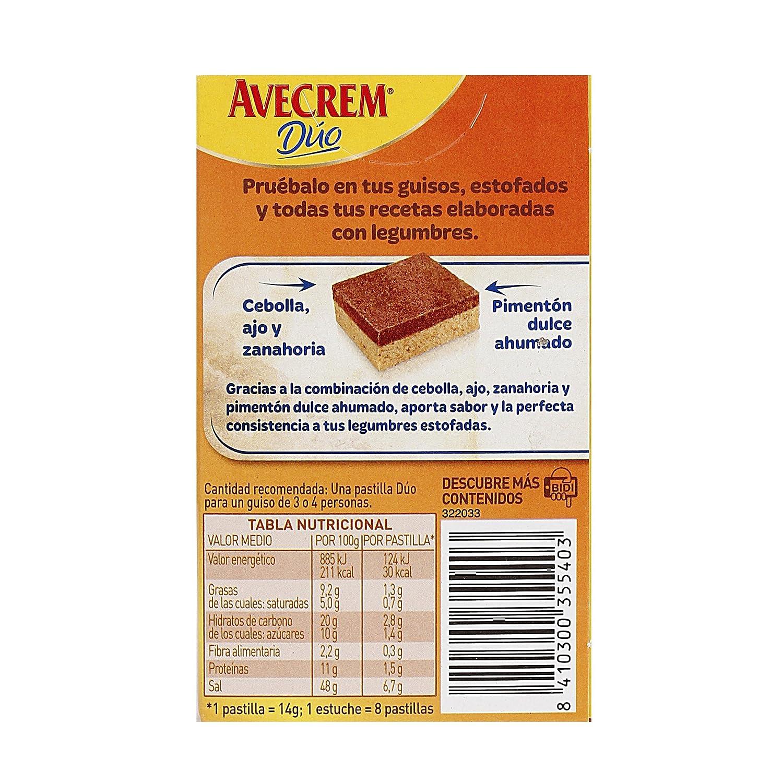 Avecrem Duo Legumbres Estofadas 8 Pastillas: Amazon.es: Alimentación y bebidas