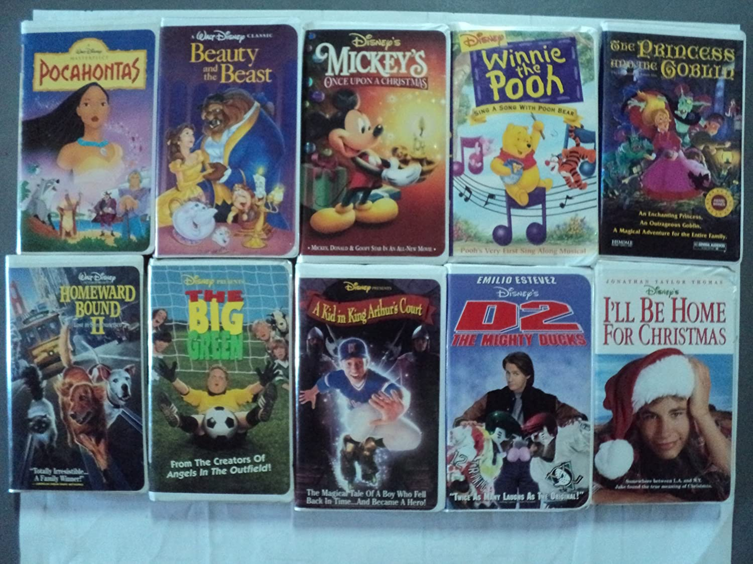 Ill Be Home For Christmas Vhs.Amazon Com Disney More 10 Pack Vhs Movies Walt Disney