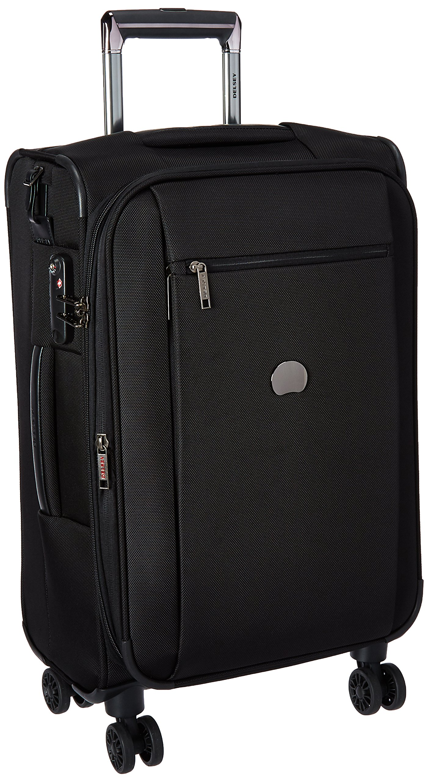 Delsey Luggage Montmartre 4 Wheel 21 Carry Exp Softside Lug, Black by DELSEY Paris