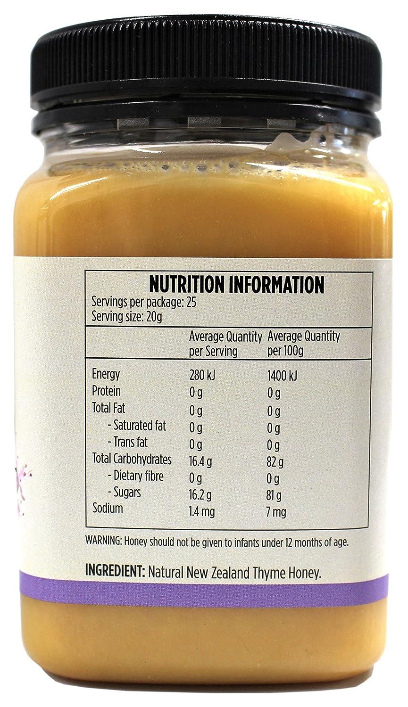 Miel de Tomillo Salvaje por New Zealand Honey Co. | 250g | Miel distintiva, herbaria y aromática de la Isla Sur de Nueva Zelanda | Nueva Zelanda Empresa de ...