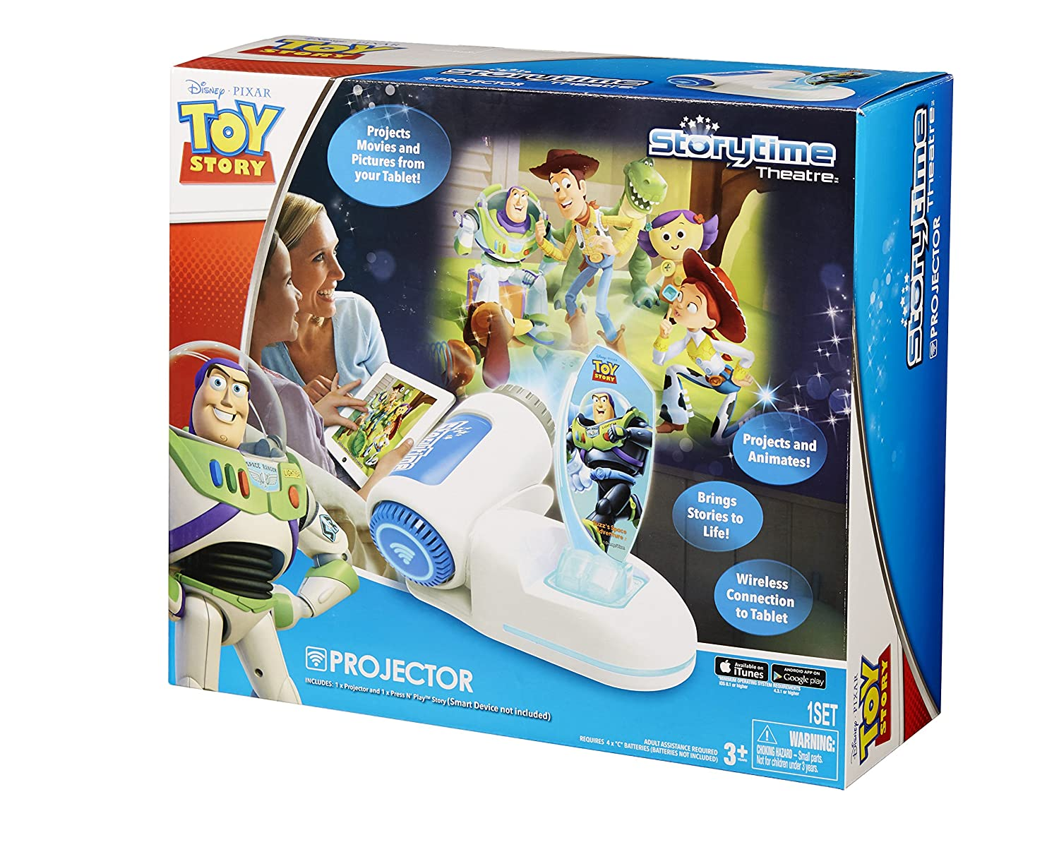 amazon com tech 4 kids story time theater with buzz light year