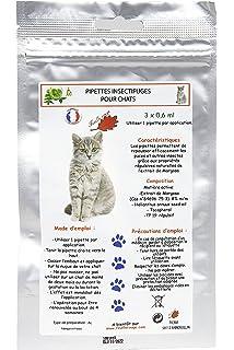 Pipetas antiparasitarias para gatos (3 x 0.6 ml)