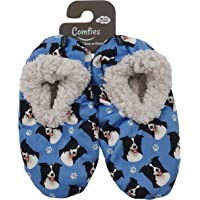 Border Collie Super Soft Womens Slippers - One Size Fits Most - Cozy House Slippers - Non Skid Bottom - perfect for Border Collie gifts
