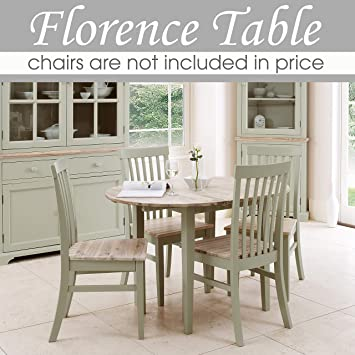 Green Round Table.Florence Round Extending Table Round Kitchen Table In Sage Green 92 117cm Center Extension 100 Hardwood Naturally Anti Bacterial